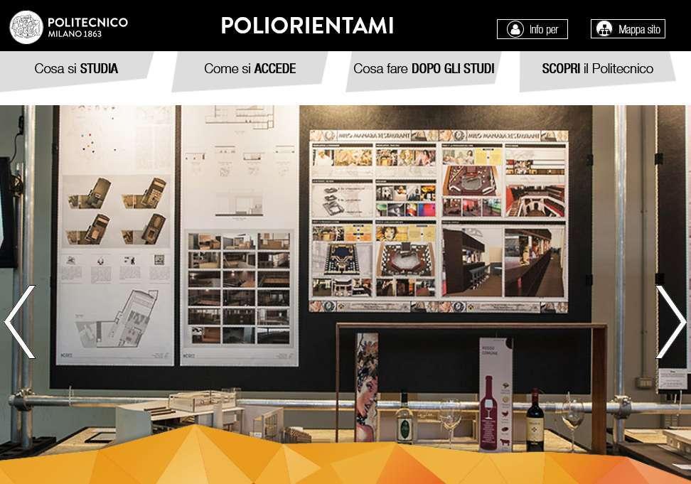 Open Day del Politecnico di Milano per il 2020, che quest'anno si svolgerà in modalità online