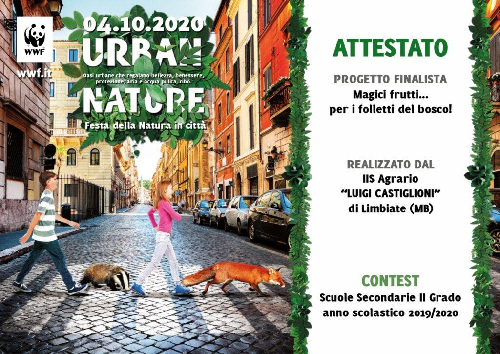 Urban Nature – L'impegno delle Scuole per la Natura delle nostre Città Contest – 3^ edizione A.S. 2019/2020