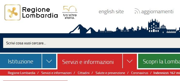 Pacchetto indennizzi regione Lombardia